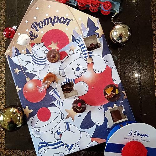 Pompon de Brest  Calendrier de l'avent 砰砰圣诞迎新好运倒数日历