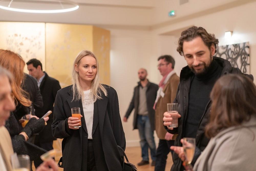 cocktail dînatoire champagne Diot événement MaFrance Sophie Marceau 11 mars 2020