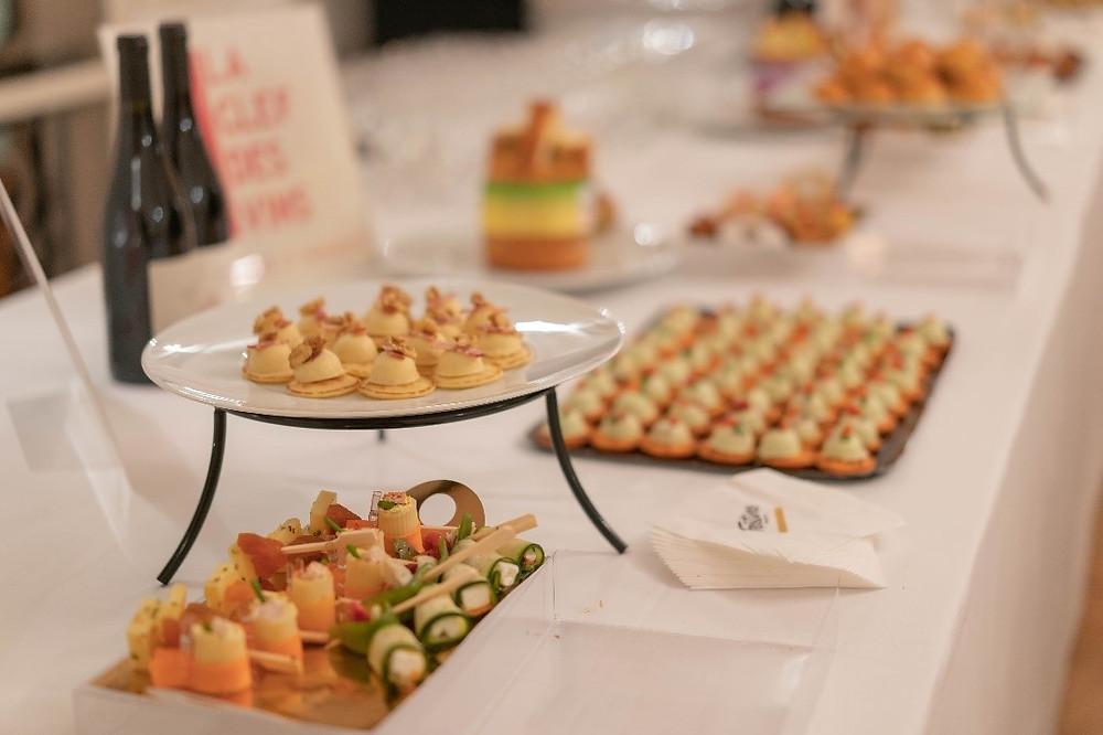 buffet cocktail dînatoire événement MaFrance Sophie Marceau 11 mars 2020