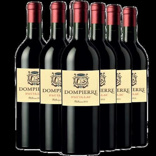 Château Dompierre - COFFRET FÊTE Pauillac 2015 爱丽舍特供丹陛酒庄2015年波亚克红葡萄酒6瓶一箱