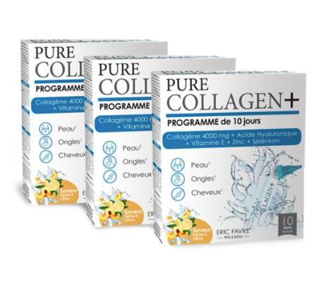 Eric Favre COFFRETS 30 JOURS Collagen+ Programme de 30 jours 法国艾瑞可胶原蛋白&玻尿酸口服液 三盒