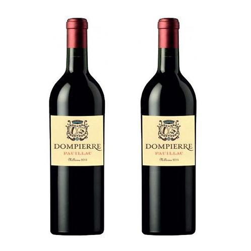 Château Dompierre - COFFRET DUO Pauillac 2015 爱丽舍特供丹陛酒庄2015年波亚克红葡萄酒 两瓶套组