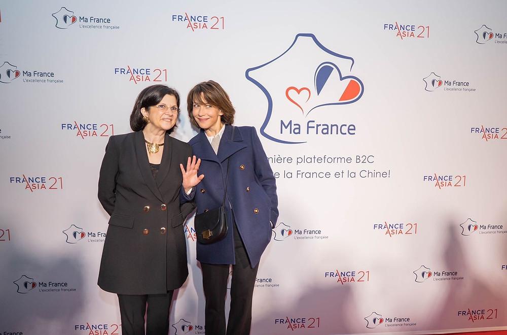 Sophie Marceau actionnaire de MaFrance et Florence Poulet fondatrice de MaFrance levée de fonds