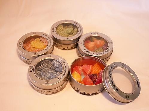 Kubli COFFRET PARISIEN 酷酷林手工彩色水果糖多口味巴黎铁盒 5个装