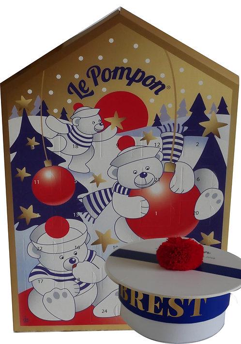 Pompon de Brest  COFFRET BACHÎ &CALENDRIER de L'AVENT砰砰海军帽巧克力礼盒&圣诞倒数日历套组