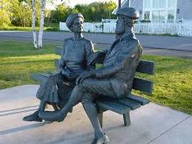 Alexander Graham Bell & Mabel Bell Bronze Statue, Baddeck, Cape Breton