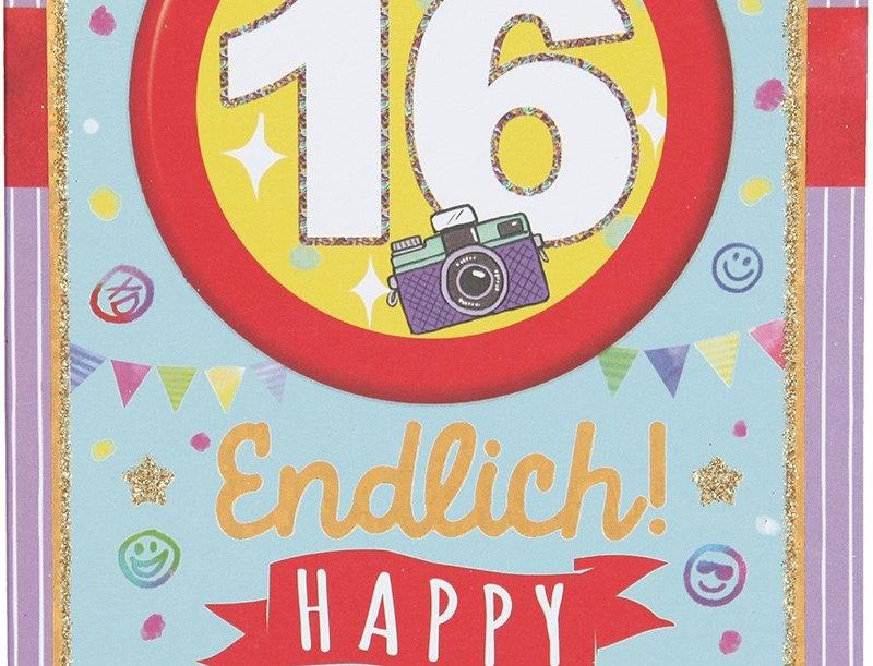 Glückwunschkarte zum 16. Geburtstag