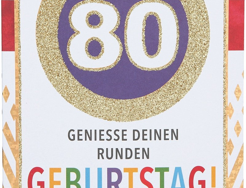 Glückwunschkarte zum 80. Geburtstag
