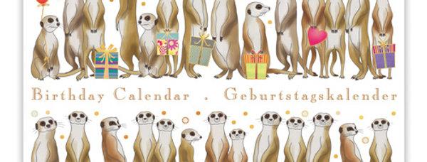 Geburtstagskalender Design: Erdmännchen