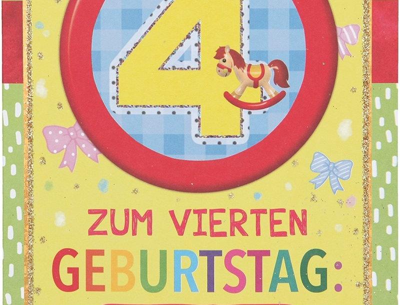 Glückwunschkarte zum 4. Geburtstag