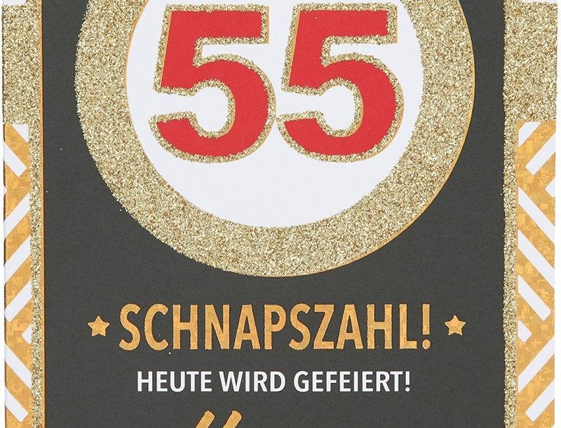 Glückwunschkarte zum 55. Geburtstag