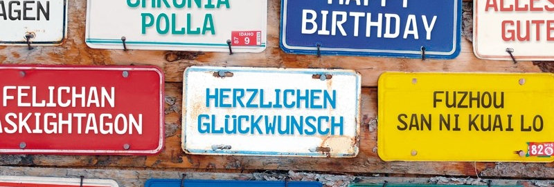 "Geburtstagskarte ""international"""