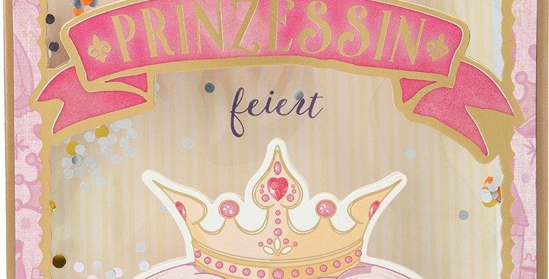 Konfetticard: Eine Prinzessin feiert Geburtstag