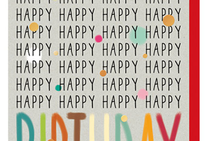 Geburtstagskarte Happy Happy...