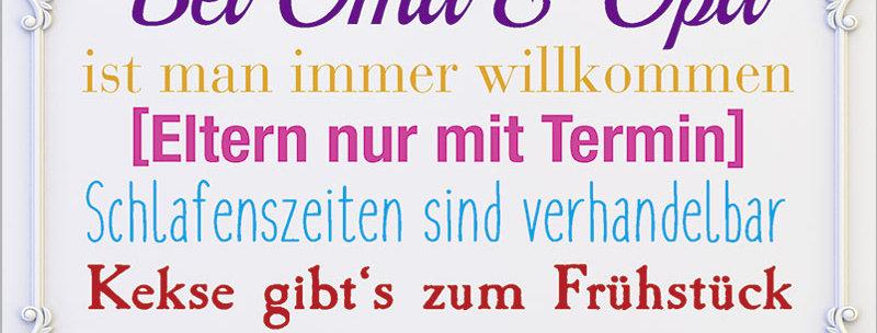 """Kult-Schild """"Oma und Opa"""""""