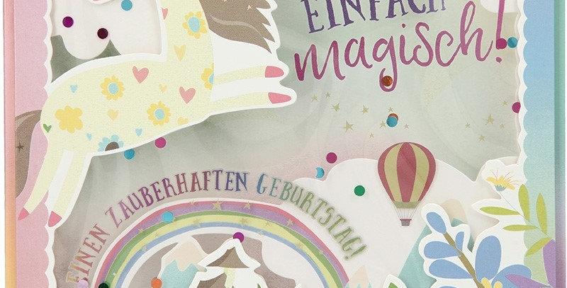 Konfetticard: Du bist einfach magisch! Einen zauberhaft..