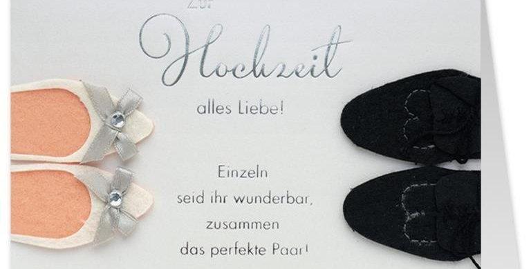 Hochzeitskarte Brautschuhe