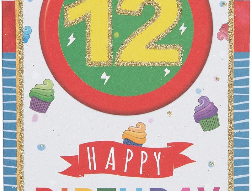 Glückwunschkarte zum 12. Geburtstag