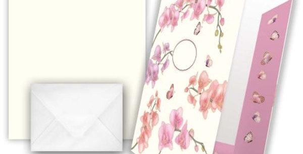"Briefpapier ""Motiv Orchidee"""