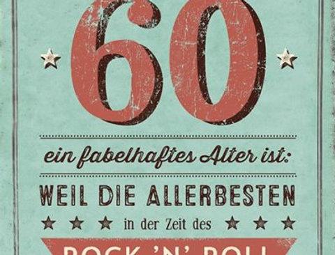 Geburtstagskarte zum 60.  Geburtstag