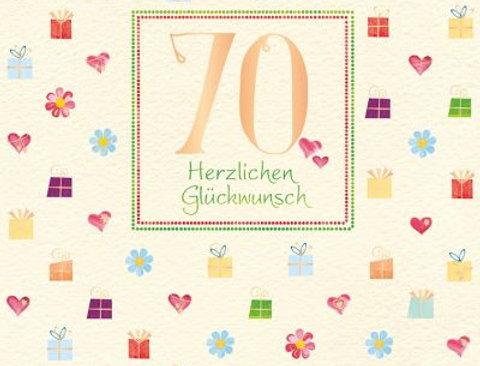 Glückwunschkarte zum 70. Geburtstag