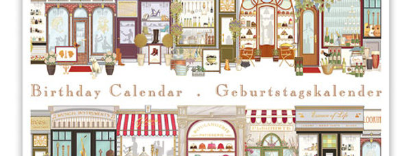 Geburtstagskalender Design: alte Geschäftsstraße