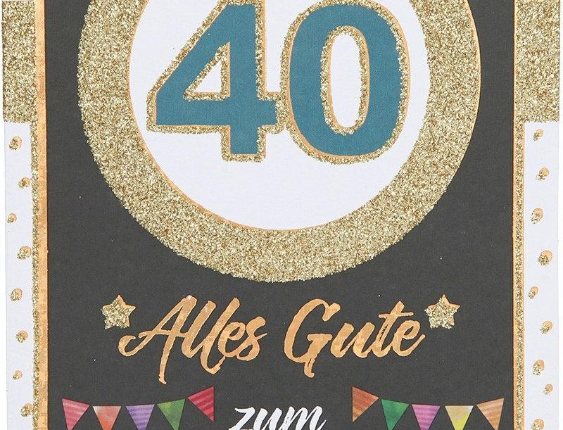 Glückwunschkarte zum 40. Geburtstag