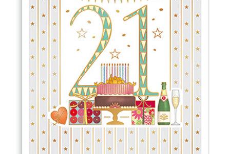 von Glückwunschkarte zum 21. Geburtstag