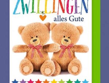 Geburtstagskarte für Zwillinge