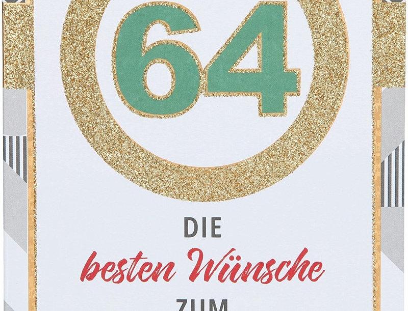 Glückwunschkarte zum 64. Geburtstag