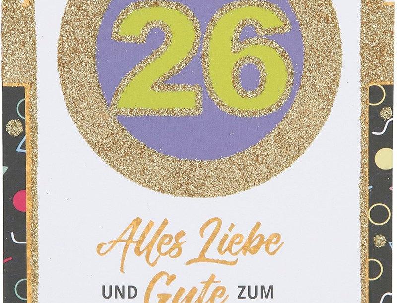 Glückwunschkarte zum 26. Geburtstag