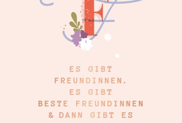 Glückwunschkarte für die beste Freundin