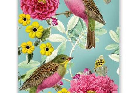Glückwunschkarte Vogelpaar