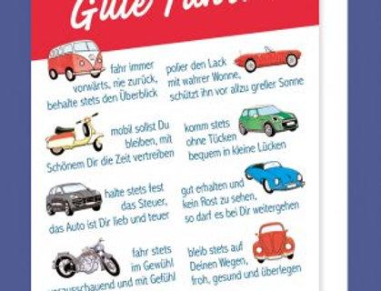 Glückwunschkarte zum Bestandenen Führerschein