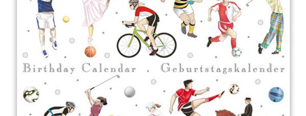Geburtstagskalender Design: Sport