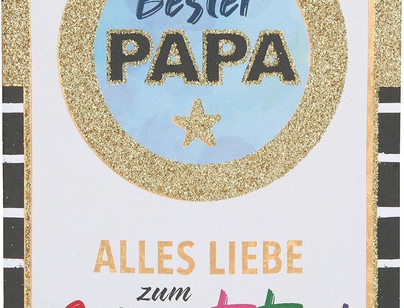 "Glückwunschkarte ""Bester Papa"""