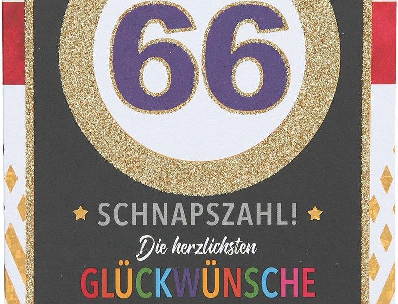 Glückwunschkarte zum 66. Geburtstag