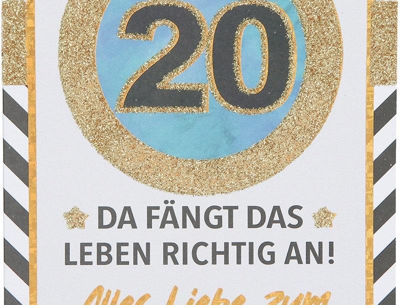 Glückwunschkarte zum 20. Geburtstag
