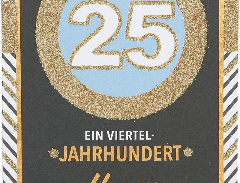Glückwunschkarte zum 25. Geburtstag