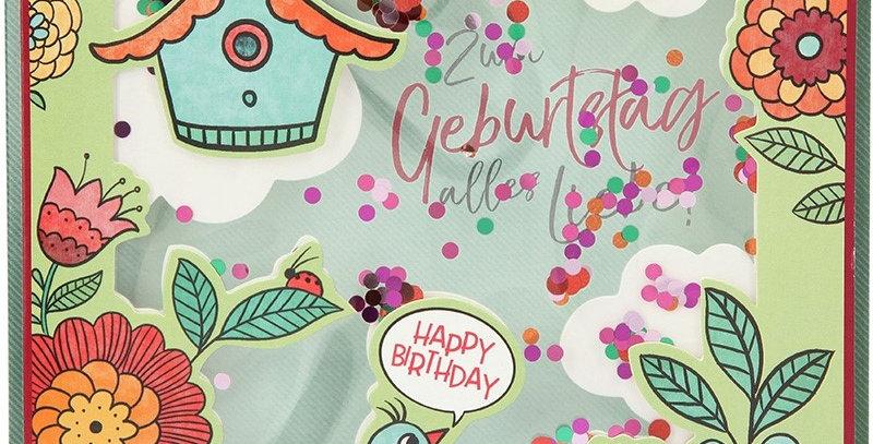 Konfetticard: Zum Geburtstag alles Liebe!