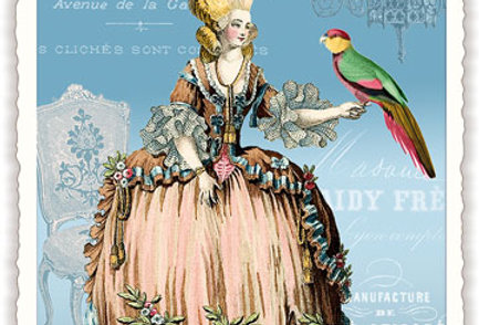 Postkarte Madame