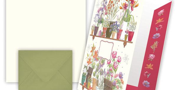 """Briefpapier """"Motiv Blumen"""""""