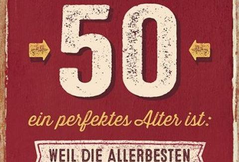 Geburtstagskarte zum 50.  Geburtstag
