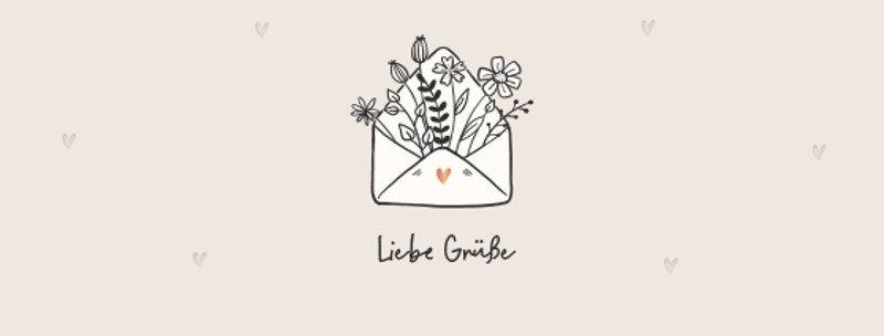 """Geburtstagskarte """"Liebe Grüße"""""""