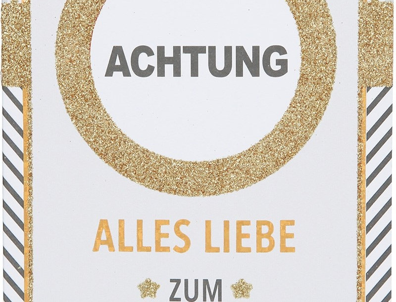 """Glückwunschkarte """"Achtung"""""""