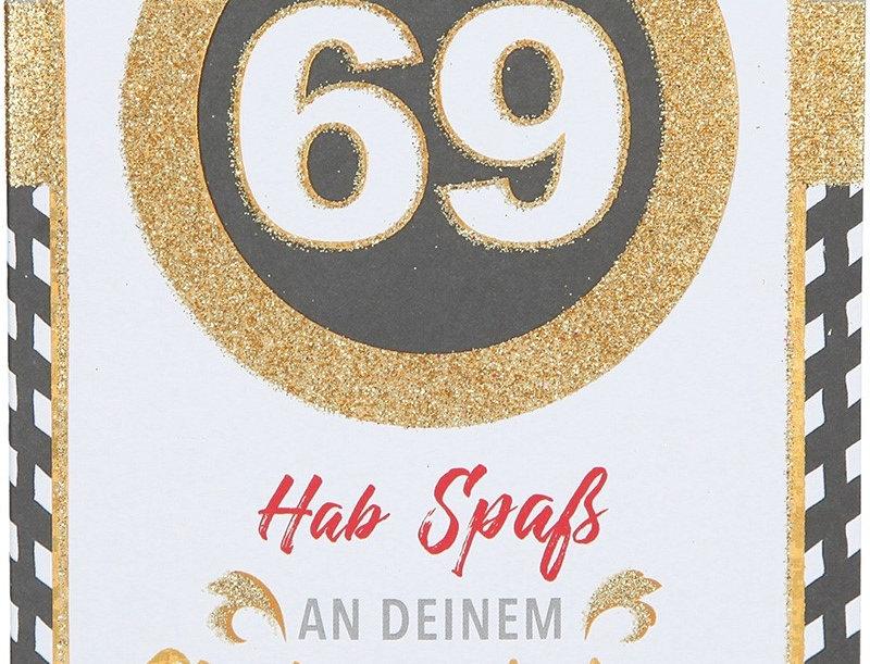 Glückwunschkarte zum 69. Geburtstag