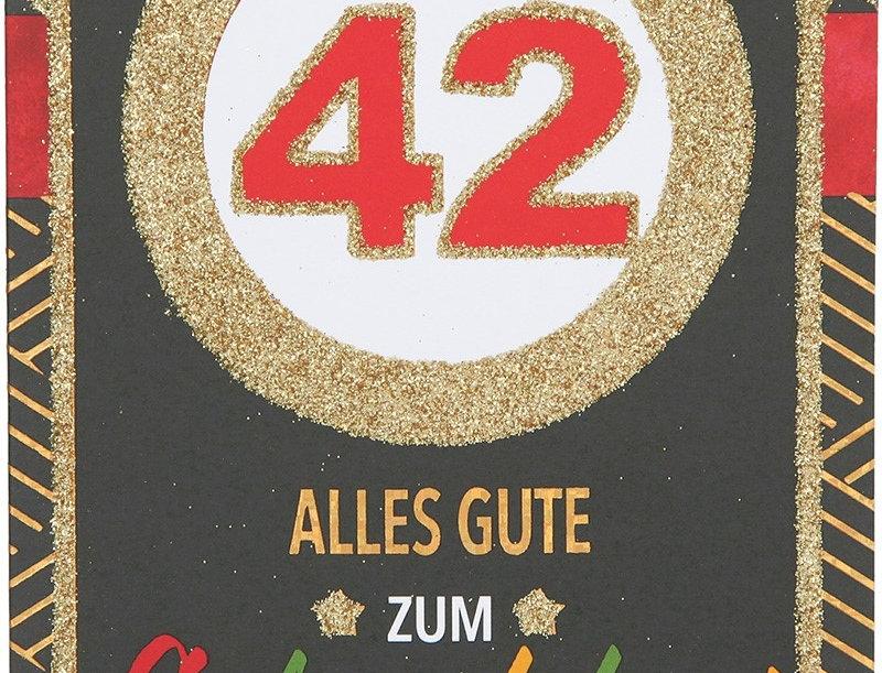Glückwunschkarte zum 42. Geburtstag