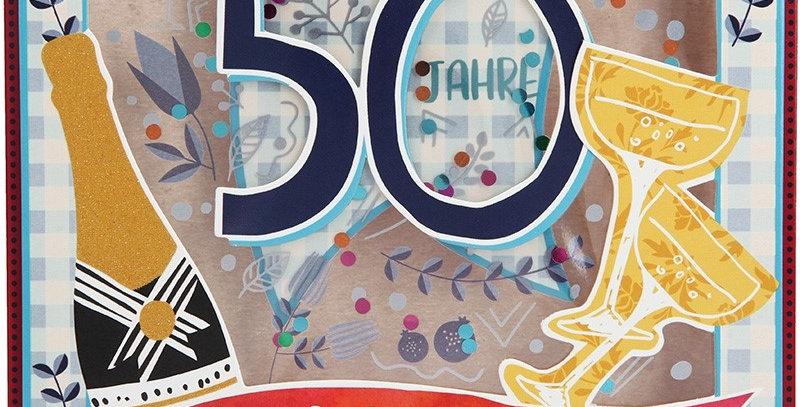 Konfetticard: 50 Jahre Herzlichen Glückwunsch