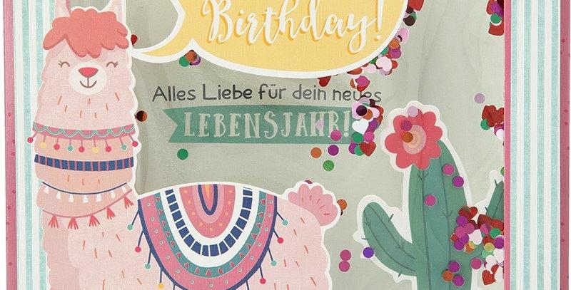 Konfetticard: Happy Birthday! Alles Liebe für dein..
