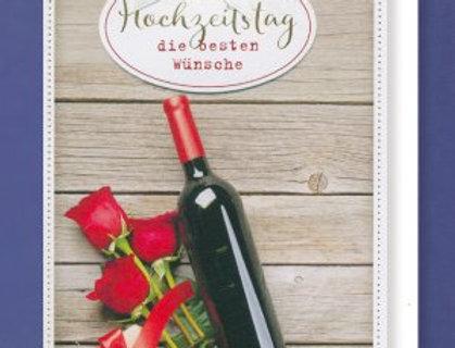 Glückwunschkarte zum Hochzeitstag